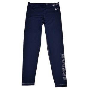 Nike Pro Dri-fit Swoosh Tight Leggings Blue XLarge
